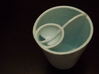 Dual Cup 3d printed Empty perspective view.