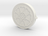 Lotus Tile With Keychain Model 3d printed