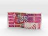 25 gulden biljet 3d printed