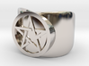 Pentacle Ring - thick 3d printed