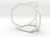 Truncated triangular prism 3d printed