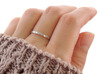 With You Always Ring (Multiple Sizes) 3d printed 'With You Always' Ring in Polished Silver with Aftermarket Patina