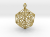 Icosahedron with inner Stellated Dodecahedron 30mm 3d printed