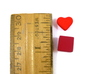 Love Letter -- Tokens of Affection, Set of 13 3d printed Photo of token next to ruler for sizing.
