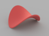Pringle / Saddle Surface on Circular Domain 3d printed Example render of model in Red Versitile Plastic