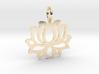 Lotus flower pendant 3d printed