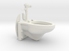 1:18 Scale Toilet - Articulated Wall Mounted Manua 3d printed