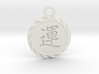 Kanji Luck Talisman Pendant 3d printed White Natural Versatile Plastic Deep Engraved Kanji Luck Talisman Pendant