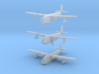 """Short S23 Empire Flying Boat Set 3d printed Short Empire 1/1250 scale models: """" in flight"""", with beaching gear and """"waterline"""", by CLASSIC AIRSHIPS"""
