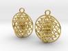 "3D Sri Yantra 1"" Earrings  3d printed"