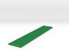 Kanalwand 100 x 20 mm mit Leiter 3d printed