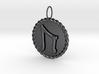Nordic Rune Uruz Rope Pendant 3d printed Polished Bronzed and Black Steel Nordic Rune Uruz Rope Pendant