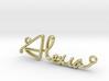 Alexia Script First Name Pendant 3d printed
