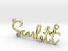 Scarlett Script First Name Pendant 3d printed