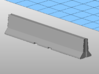 1:87 20Ft Jersey barriers pack of 10. 3d printed