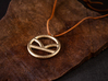 Kingsman Pendant 3d printed Photo of the pendant in Polished Gold Steel