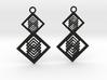 Geometrical earrings no.15  3d printed