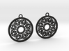 Ornamental earrings no.2 3d printed