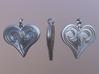 Tribal Heart Pendant 3d printed Marmoset Toolbag2 Render