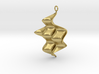 Sine Wave product Earring with sine edges. 3d printed