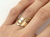 Run Rabbit Ring 3d printed Gold Plated Brass