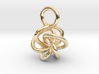 5-Knot Earring 10mm wide 3d printed