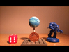 Top Table Planets: Ice World - 2 Sizes 3d printed
