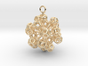 Dodecahedrons at vertex earrings 3d printed