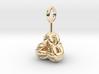 Tetrahedron Balls earring 3d printed