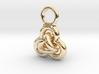 Interlocked Rings earring 3d printed