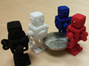 Robie Robot 3d printed Robie Robot 1in Miniature in four colors.
