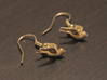 Nautical Swallow Earrings 3d printed An order only includes a single earring. If you want two earrings add two to your cart.