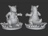 Kangaskhan Mini Figure with Base 3d printed