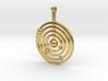 Solar system round pendant 3d printed