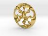 """Nine rings"" pendant 3d printed"