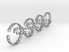 seven size 6 18.11 mm rings 3d printed