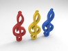 Music Note treble clef 3d printed