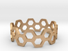 bee ring 2 rows size 6 3d printed
