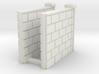 5' Block Wall - 2-Short R/S Jointed Intersections 3d printed Part # BWJ-015