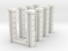 5' Block Wall - 8-Jointed Splice Columns 3d printed Part # BWJ-018