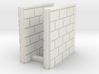 5' Block Wall - 2-Short Jointed Splices 3d printed Part # BWJ-025