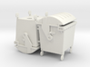 Waste container 4 wheels 1100 ltr. - 1:50 - 2X 3d printed