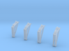 S1B Holddown Arms 1:48 4-Pack 3d printed