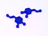Dopamine Molecule Earrings 3d printed