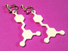 Resveratrol Red Wine Molecule Earrings 3d printed