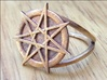 Fairy star ring (choose size)  3d printed The heptagram ring in raw bronze. This ring can only be printed in unpolished metals, due to the shape of the points on the star.