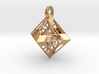 Octahedron Pendant 3d printed