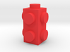 Custom LEGO-inspired brick 1x1x2 3d printed