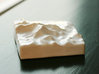 3''/7.5cm Mt. Everest, China/Tibet, Ceramic 3d printed Chinese view of Everest, looking South at the massive North face of Everest