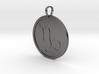 Capricorn Medallion 3d printed